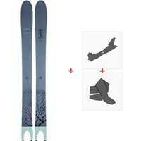 Ski Line Pescado 2021 + Fixations de ski randonnée + Peaux38435