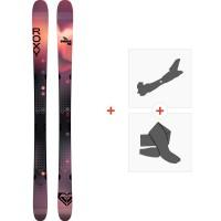 Ski Roxy Shima 90 2021 + Fixations de ski randonnée + Peaux38793