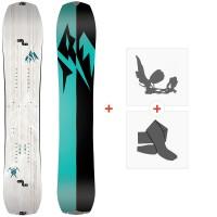 Splitboard Jones Women'S Solution 2021 + Fixations de splitboard + Peaux36261