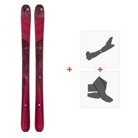 Ski Blizzard Black Pearl 97 Flat 2021 + Tourenbindungen + Felle39814