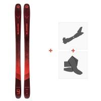 Ski Blizzard Rustler 9 Flat 2021 + Fixations de ski randonnée + Peaux41349