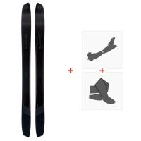 Ski Blizzard Spur Concept Flat 2021 + Fixations de ski randonnée + Peaux40708