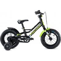 Scool FaXe 12 Black Lemon Matt Reflex Complete Bike 2020