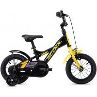 Scool XXlite Steel 12 Black Yellow Matt Komplettes Fahrrad 2020