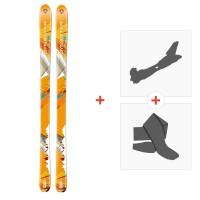 Ski Dynastar Cham Alti 89 2014 + Fixations randonnée + PeauDACKN01