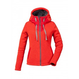 Veste Pyua Tide Hooded Full Zip Fleece Red Melange