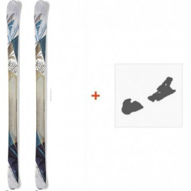 Ski Nordica Belle To Belle 2015 + Fixation de ski0A423400.001