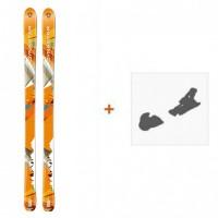 Ski Dynastar Cham Alti 89 2014 + Fixation de skiDACKN01