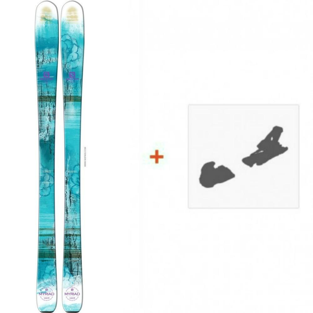 Ski Salomon Q 83 Myriad 2016 + Ski Bindings