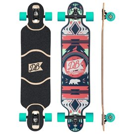 "DB Longboards Urban Native Red and Seafoam 40\"" / CompleteDBLON15446"