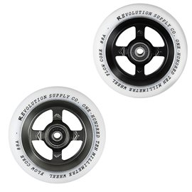 Revolution Supply Flow White PU Pro Scooter Wheel