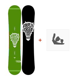Snowboard Amplid Green Light 2013 + Fixation