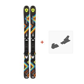 Ski Dynastar Slider JR + Xpress Team 7 B83 Black White 2016