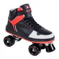 Rookie Rollerskates Hype Hi Top Traine Black/Red 2017