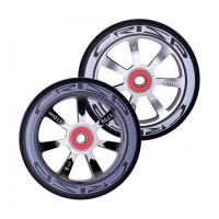 Crisp Hollowtech Spoked Wheels 110mm, Silver, Black, Black, Pair 20171216551