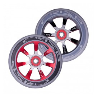 Crisp Hollowtech Spoked Wheels 110mm, Black, Red, Grey, Pair 20171216553