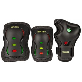 Bullet Triple Padset Black Red Yellow GreenBUL-PCO-010