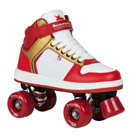 Rookie Rollerskates Hype Hi Top Trainer Red Gold 2019