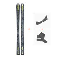 Ski Dynastar Cham Alti 85 2017 + Fixations randonnée + PeauDAFL301
