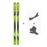 Ski K2 Wayback 88 Ecore 2020 + Fixations de ski randonnée + Peaux10B0202.101