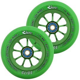 River Glide Emerald Pro Scooter Wheels 2-Pack 2018RVWHGL10GR