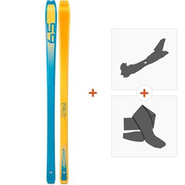 Ski Dynafit PDG Orange/Blue 2019 + Fixations randonnée + Peau08-0000048468