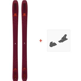 Ski Salomon N QST 106 2019 + Fixation de ski