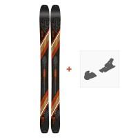 Ski K2 Wayback 106 2020 + Fixation de ski10C0200
