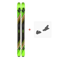 Ski K2 Wayback 88 2020 + Fixations de ski10C0202