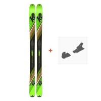 Ski K2 Wayback 88 2020 + Fixation de ski10C0202