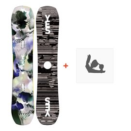 Snowboard Yes Ghost 2019 + Fixation de SnowboardSY190