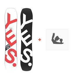 Snowboard Yes Fun Inc 2019 + Fixation de SnowboardSY170185