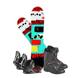 Snowboard Head Rowdy JR 2018 + Fixation + Chaussures336606