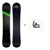 Nidecker Snowboard Rave 2019 + Fixation de SnowboardSN190115