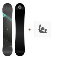Nidecker Snowboard Princess 2019 + Fixation de SnowboardSN190201
