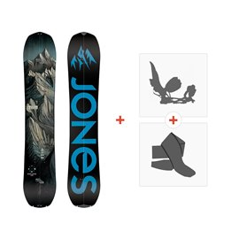 Jones Splitboards Explorer 2019+ Fixations de splitboard + peauxSJ190190