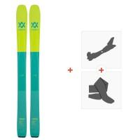 Ski Volkl 100Eight W 2020 + Fixations de ski randonnée + Peaux118426
