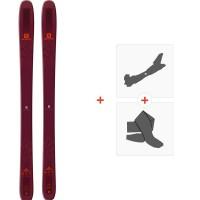 Ski Salomon N QST 106 2019 + Fixations de ski randonnée