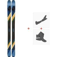 Ski K2 Wayback 84 2020 + Fixations de ski randonnée + Peaux10C0203.101.1