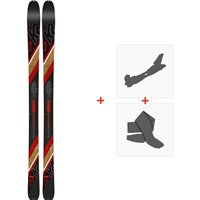Ski K2 Wayback 80 2020 + Fixations de ski randonnée + Peaux10C0204.101.1