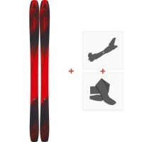 Ski Atomic Backland 107 2019 + Fixations de ski randonnée + PeauxAAST01038
