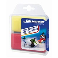 Holmenkol Worldcup Mix HOT Yellow-Red 2x 35 g
