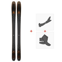 Ski Salomon N QST 92 Black/Orange 2019 + Fixations de ski randonnée + PeauxL40524300