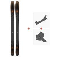 Ski Salomon N QST 92 Black/Orange 2019 + Tourenbindungen + FelleL40524300