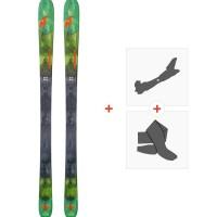 Ski Nordica Navigator 90 Flat 2018 + Fixations de ski randonnée + Peaux0A708500.001