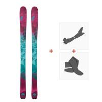 Ski Nordica Astral 88 Flat 2018 + Fixations de ski randonnée + Peaux0A709100.001