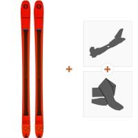 Ski Blizzard Zero G 95 Orange 2019 + Fixations de ski randonnée + Peaux