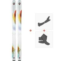 Ski Dynastar Legend W96 2018 + Fixations de ski randonnée + PeauxDRG04S8