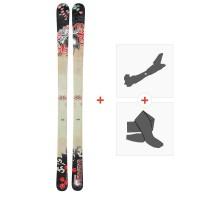 Ski Dynastar 6th Sense Spin 2010 + Fixations de ski randonnée + PeauxDA9TF01