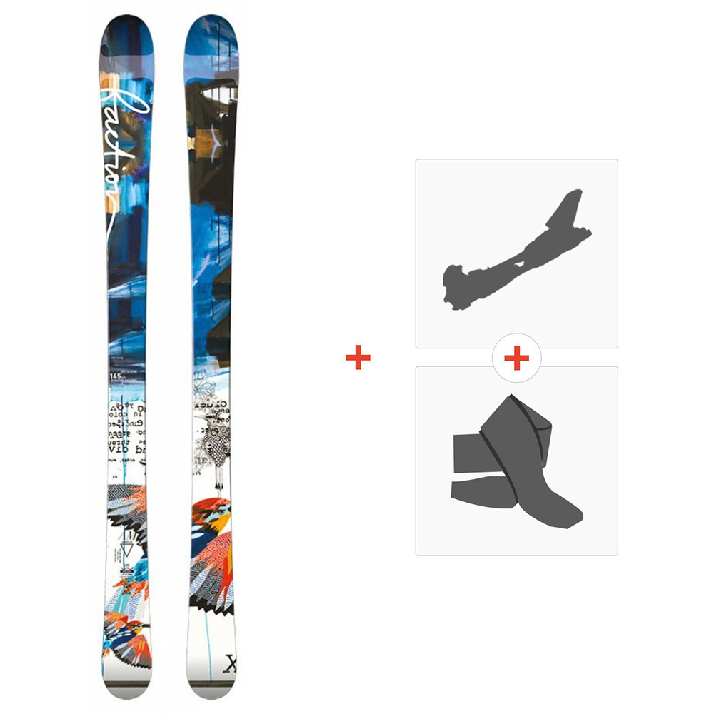 Ski Faction Ambit Jr 2015 + Fixations de ski randonnée + Peaux